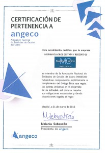 Certificado Angeco